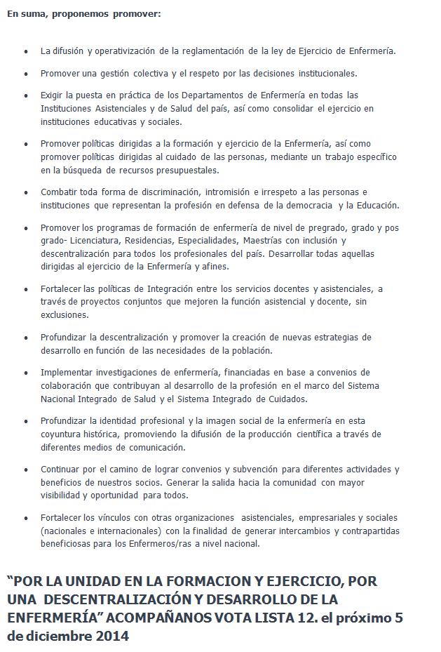 COLEGIO DE ENFERMERAS DEL URUGUAY - SINDICATO DE ENFERMERIA DEL ...